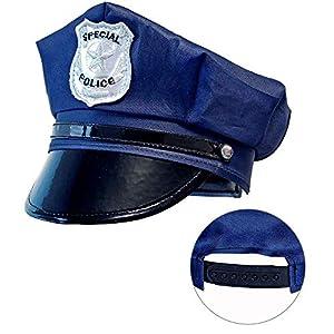WIDMANN 03327 - Gorro de policía para niños, color azul, talla única