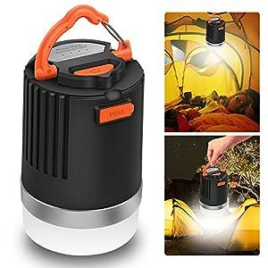 ELEPOWSTAR LED Campinglampe, Camping Laterne IP65 wasserdichte Campingleuchte, USB USB Aufladbar,MagnetischPowerbank