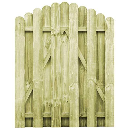 vidaXL Puerta Arqueada de Jardín Madera de Pino FSC 100x125 cm Cancela...
