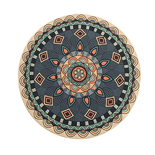 MOM Wohnzimmer Fußmatte Dekoration, Badematten Gentleman American Style Runder Teppich Europäisc - Tür, Pro-style-griff