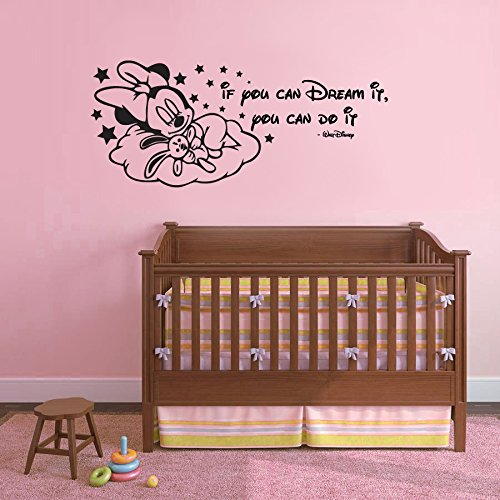 disney-minnie-mouse-sleeping-if-you-can-dream-it-you-can-do-it-childrens-nursery-bedroom-vinyl-wall-