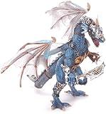 Plastoy 60250 Creature - Drago traslucido con armatura, colore: Grigio/Blu