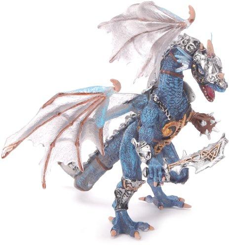plastoy-60250-figurine-le-dragon-en-armure-translucide-gris-bleu