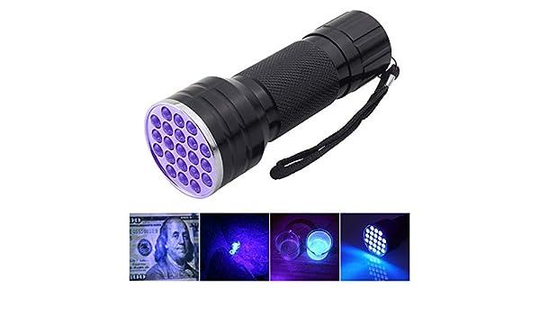 21 LED Taschenlampe UV-Licht 395-400 Nm Taschenlampe Aluminium 6063-T6