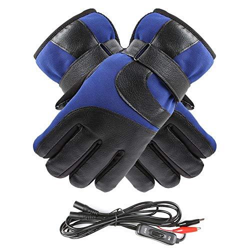 never-hu Elektrische Heizhandschuhe der Mann-Frauen, wasserdichte Thermisch isolierte erhitzte Handschuhe des Bildschirm- für Motorrad und Elektroauto -