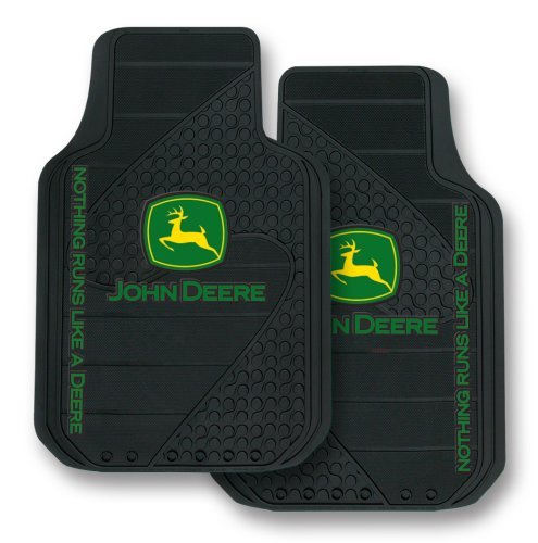 john-deere-factory-style-logo-trim-to-fit-molded-passenger-driver-front-floor-mats-set-of-2-by-plast