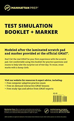 Manhattan GMAT Test Simulation (Manhattan Prep GMAT Strategy Guides)