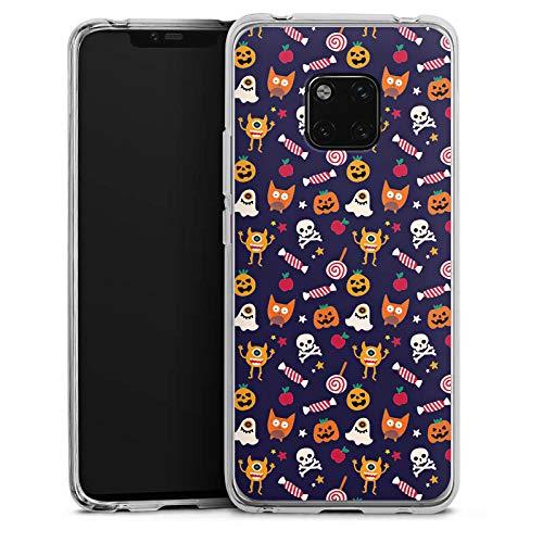 (DeinDesign Huawei Mate 20 Pro Silikon Hülle Case Schutzhülle Geist Halloween Muster Suess)