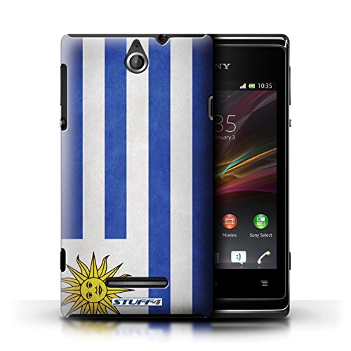 Kobalt® Imprimé Etui / Coque pour Sony Xperia E / Finlande/finlandais conception / Série Drapeau Uruguay/Uruguayen