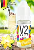 V2 Vape E-Liquid Vanille ohne Nikotin - Luxury Liquid für E-Zigarette und E-Shisha Made in Germany aus natürlichen Zutaten 10ml 0mg nikotinfrei