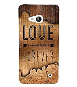 Love Forever 3D Hard Polycarbonate Designer Back Case Cover for Lumia Lumia 550 :: Microsoft Lumia 550