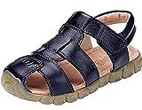 DADAWEN Mixte enfant Leather Oxford Sandale(Garçon/Fille/Bébé)-Noir 27