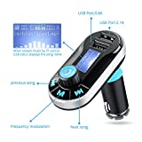 [Upgraded Version] VicTsing Bluetooth MP3 Player FM Transmitter Hands-free Car Kit Charger, Dual USB Charging 5V/2.1A Output, Micro SD/TF Card Reader Slot for iPhone SE 6s 6s Plus iPhone 6 6 Plus, iPad, etc - Silver Bild 5