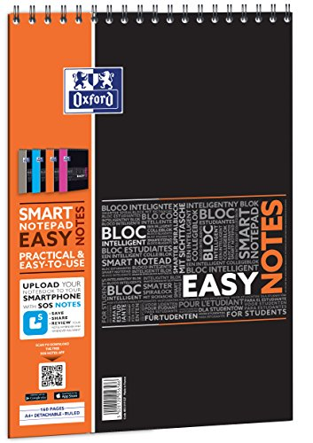 Oxford Etudiant Easynotes Bloc-notes connecté SOS Notes 160 pages 210 x 315 Coloris Aléatoire