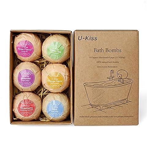 U-KISS 6 PCS Bath Bombe Geschenk Set, alle natürlichen ätherischen