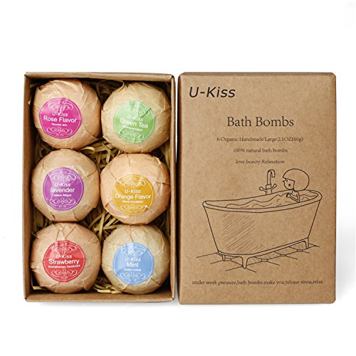 u-kiss-6-pcs-bath-bomb-gift-set-all-natural-essential-oil-bath-bomb-birthday-gifts-for-her-teen-girl