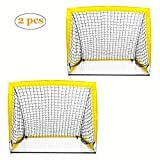 Shinehalo But de Foot Cage de Football Target Shot pour Enfant Parc Jardin Plage Plein Air Pop Up Sports Intérieur et Plein Air Pratiquer de Tir Cadeau Noël Anniversaire - 2 But