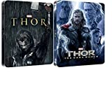 Thor 1 + 2 The Dark world 3D Includes 2D Version-2015 UK Exclusive Lenticular Edition Steelbooks Blu-ray REGION FREE