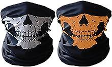 Richie negro máscara respiratoria transpirable tubo cráneo máscara, máscara facial de 3 piezas moto, colorido