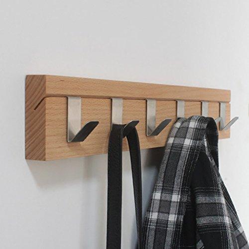 LWJJYMJ Kleiderhaken Kreativhaken aus Massivholz Wandhaken Einfacher Metallhaken Freistempelständer (größe : B)