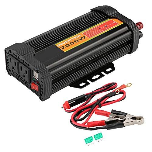 Preisvergleich Produktbild Wandisy 2000W Auto Auto Spannungswandler Wechselrichter Konverter Autoladung 12V DC auf 110V AC