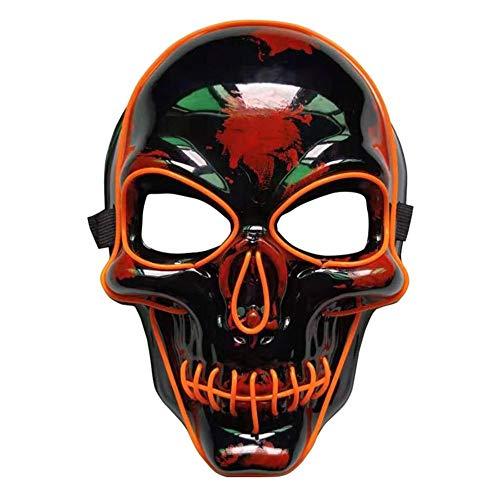 Interessante Horror-Skelett-Maske, die Gesichts-Schild-Feiertags-Dekoration für Halloween belichtet