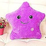 Missley LED Star Kissen Kissen Bright Light Bunte glühende LED Star Plüsch Kissen Plüsch Spielzeug Puppe für Dekoration Geschenke (Purple)