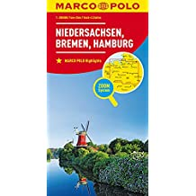 MARCO POLO Karte Deutschland Blatt 3 Niedersachsen, Bremen, Hamburg 1:200 000 (MARCO POLO Karten 1:200.000)
