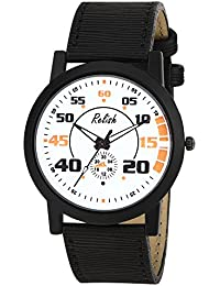 Relish RE-S8135BB Black Slim Analog Watches For Men's And Boy's