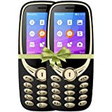 I KALL K3311 Dual Sim 2.4 Inch Display With Unbreakable Screen Combo Of Two Basic Feature Mobile Phone With 1800 Mah Battery, GPRS, Bluetooth. Flash Light And 1 Year Warranty, Golden
