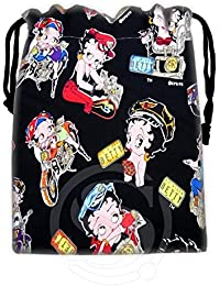 Green : New Arrive Betty Boop Drawstring Bags Custom Storage Bags Storage Printed Receive Bag Compression Type...