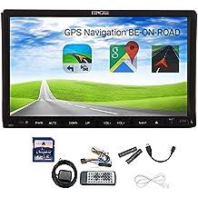 Unità cruscotto auto lettore video navigatore GPS con scheda mappa SD gratuita doppio 2 DIN GPS SAT NAV 7