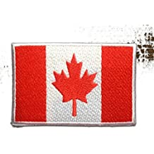 CANADÁ BANDERA ' 7.4 x 4.9 cm ' - Parche Termoadhesivos Bordado Parches Para La Ropa Termoadhesivo Apliques Iron on Patch Catch The Patch