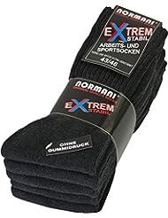 10 Paar Stabile Arbeitssocken von normani® - Socken - Ferse und Spitze EXTRA verstärkt - ohne gummidruck !