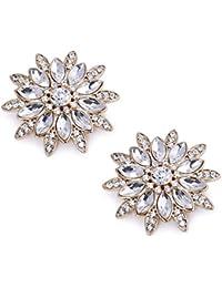 ElegantPark AS Women's Sunshine Design Wedding Party Prom Decoration Crystals Clutchs Dress Hat Shoe Clips Gold 2 Pcs