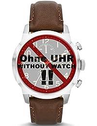 Fossil Uhrband Wechselarmband LB-FS4873 Original Ersatzband FS 4873 Uhrenarmband Leder 22 mm Braun