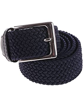 Cintura Uomo Intrecciata In Corda Elastica Regolabile Casual Blu eSprez