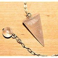 Pendel Edelstein in Kegelform aus Edelstein mit Silberkette und Endkugel - Bergkristall preisvergleich bei billige-tabletten.eu