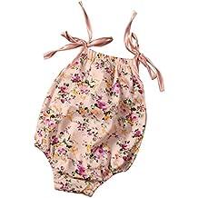 Bebe Vestidos Switchali NiñitoBebé Chicas Ropa Cabestro Floralalgodon Sin mangas Romper Mono Conjuntos Equipar bodysuit jumpsuit Conjunto Set de trajes 0~24 Meses vestir