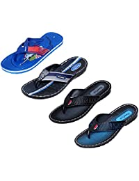 Indistar Men Flip Flop House Slipper And Sandal-Blue/Blue/Black/Blue - B072J1QG5K