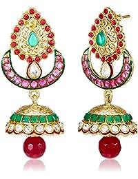Aheli Jhumki Earrings for Women (Multi-Colour)(A4E23)