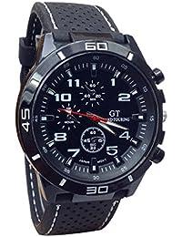 b91921c2ef47 Ularma Reloj de pulsera Sport silicona de cuarzo reloj hombres (blanco)