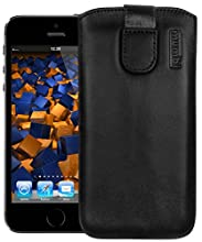 mumbi Etui pour iPhone SE 5 5S 5C Noir