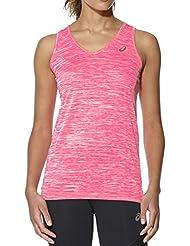 Asics Fuzex Layering Tank Camiseta de Tirantes, Mujer, Rosa (Diva Pink), M