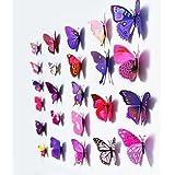 iDealhere - 12 adhesivos murales en forma de mariposa