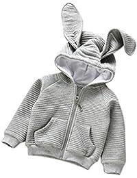 Bebé Cardigan abrigo con capucha , Yannerr niños niñas Orejas de conejo manga larga encapuchados chaqueta capa ropa outwear caliente