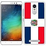 FUNDA CARCASA PARA Xiaomi Redmi Note 3 Pro DISEÑO BANDERA REPÚBLICA DOMINICANA
