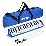 CASCHA Mélodica avec Étui et Embouchure, Instrument pour Enfants et Débutants, Bleu