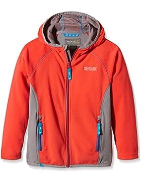 Regatta Whinfell cremallera completa chica II - chaqueta de forro polar Coral negro/roca gris, talla 11 - 12