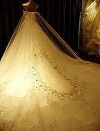 HUINI Granos Cristalinos de Los Vestidos de Boda del Cord¨®n del Amor Vestidos